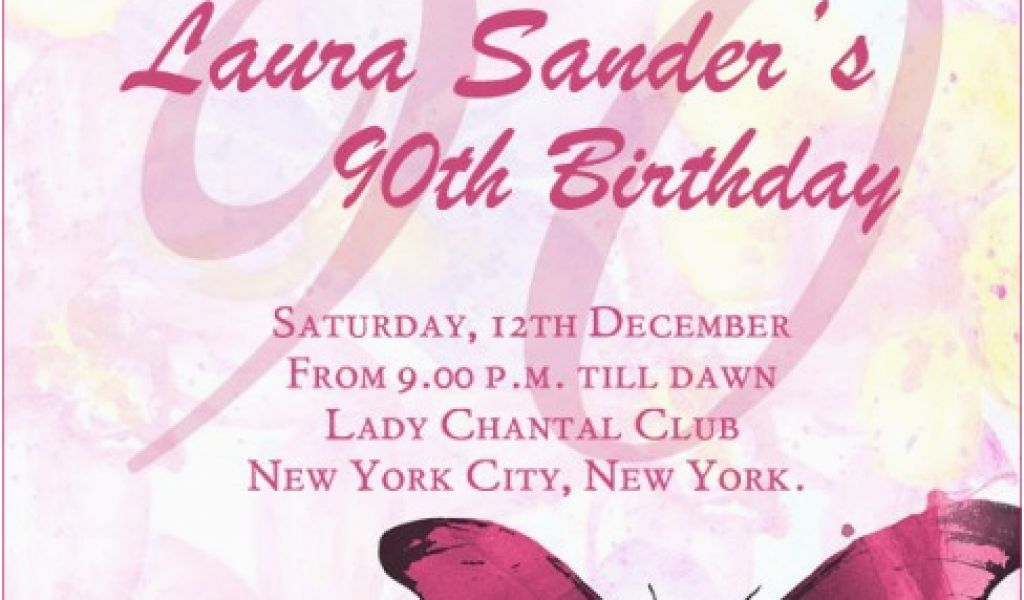 Download By SizeHandphone Tablet Desktop Original Size Back To 90th Birthday Invitations Wording Samples
