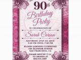 90th Birthday Invites Templates 90th Birthday Party Invitations Party Invitations Templates