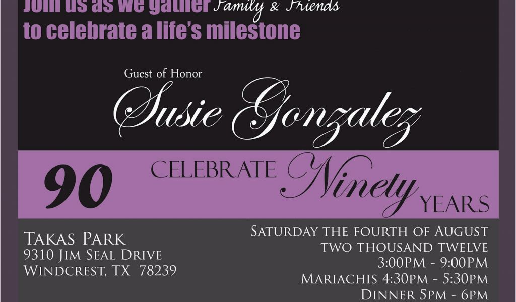 Download By SizeHandphone Tablet Desktop Original Size Back To 90th Birthday Invites Templates