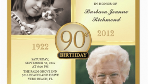 90th Birthday Photo Invitations 90th Birthday Invitations and Invitation Wording