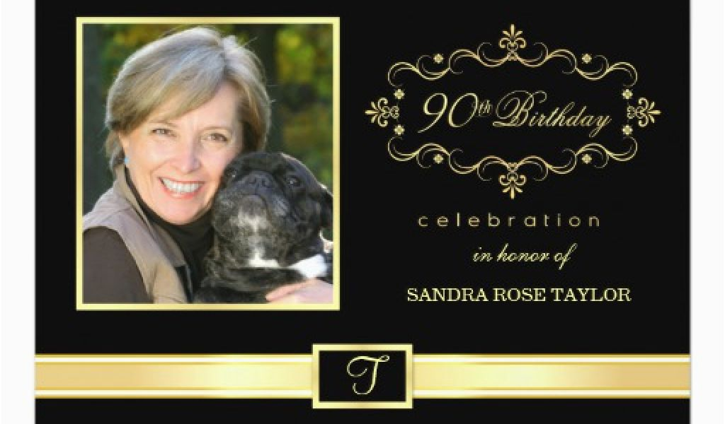Download By SizeHandphone Tablet Desktop Original Size Back To 90th Birthday Photo Invitations