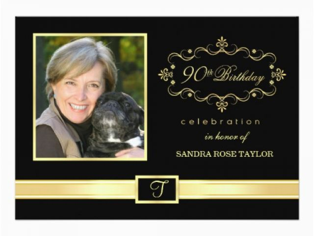 011e824114b Download By SizeHandphone Tablet Desktop Original Size Back To 90th  Birthday Photo Invitations