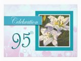 95th Birthday Party Invitations 95th Birthday Celebration Party Invitation Lily Zazzle