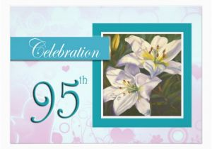 95th Birthday Party Invitations Celebration Invitation Lily Zazzle