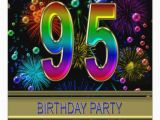 95th Birthday Party Invitations 95th Birthday Party Invitation with Bubbles Zazzle