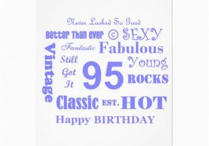 95th Birthday Party Invitations 5 Quot X 7 Invitation Card