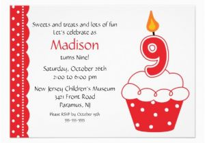 9th Birthday Invitation Wording 22 Best Party