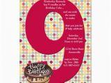 9th Birthday Invitation Wording 22 Best 9th Birthday Party Invitations Images On Pinterest