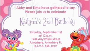 Abby and Elmo Birthday Invitations Abby Cadabby and Elmo Birthday Invitation