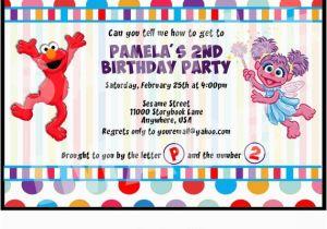 Abby And Elmo Birthday Invitations Items Similar To Invitation Cadabby