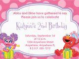 Abby Cadabby Birthday Invitations Abby Cadabby and Elmo Birthday Invitation