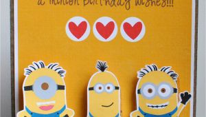 Action Birthday Cards Crafting In the Night Minion Birthday Card Action Wobbles
