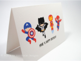 Action Birthday Cards Happy Birthday Card Boy 4 Action Superheroes Hbc119