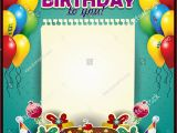 Add Photo to Birthday Card Free Happy Birthday Sheet Paper Vertically Balloons Stock