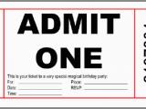 Admit One Birthday Invitations Printable 10 Free Birthday Printablesmade Peachy