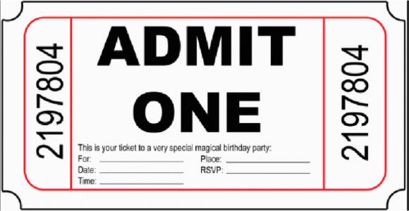Admit One Birthday Invitations Printable 10 Free Birthday Printablesmade Peachy