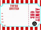 Admit One Birthday Invitations Printable 25 Images Of Carnival Admit One Ticket Template