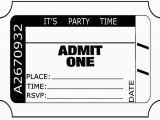 Admit One Birthday Invitations Printable 6 Best Images Of Free Printable Admit One Invitations