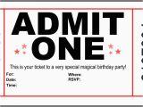 Admit One Birthday Invitations Printable Admit One Birthday Invitations Cobypic Com