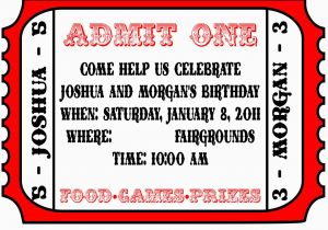 Admit One Birthday Invitations Printable Template For Invitation