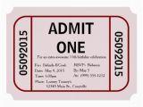 Admit One Birthday Invitations Printable Admit One Ticket Birthday Party Invitation Zazzle