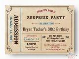 Admit One Birthday Invitations Printable Adult Surprise Birthday Invite Admit One Ticket Birthday