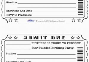 Admit One Birthday Invitations Printable Printable Party Invites