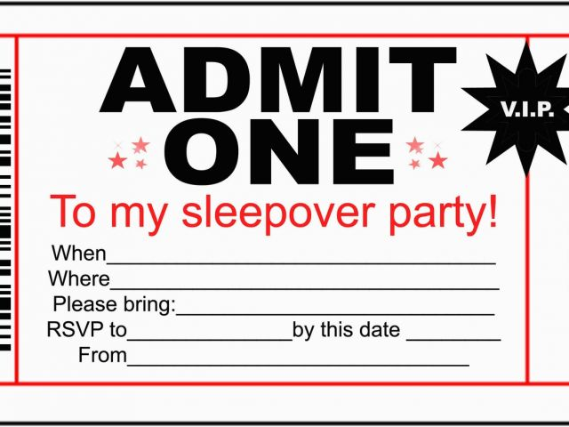 Admit One Birthday Invitation Template