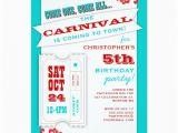 Admit One Ticket Birthday Invitation Admit One Carnival Birthday Party Invitation Zazzle