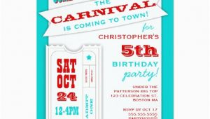 Admit One Ticket Birthday Invitation Admit One Carnival Birthday Party Invitation Zazzle