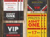 Admit One Ticket Birthday Invitation Admit One Vip Ticket Invitation Template Ticket