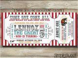 Admit One Ticket Birthday Invitation Circus Invite Carnival Invite Circus Invitation Carnival