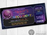 Admit One Ticket Birthday Invitation Disco Ticket Invites Admit One Party Invite Birthday Instant