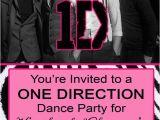 Admit One Ticket Birthday Invitation One Direction Concert Admit Ticket Pink From