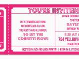 Admit One Ticket Birthday Invitation Search Results for Blank Admit One Ticket Template