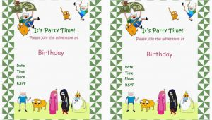 Adventure Time Birthday Invitations Adventure Time Birthday Invitations Birthday Printable