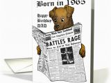 Age Specific Birthday Cards Born In 1965 Newspaper with Dog Reading for Dad Card 376270