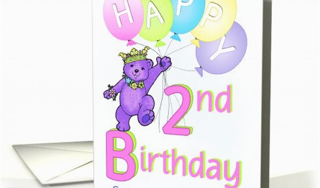Age Specific Birthday Cards Great Granddaughter 2nd Teddy