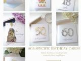 Age Specific Birthday Cards Handmade Greeting Cards Design by Occasion
