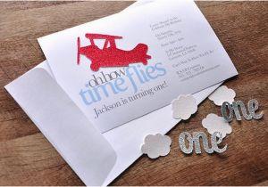 Airplane 1st Birthday Invitations Airplane 1st Birthday Invitations and Envelopes We Print