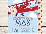 Airplane 1st Birthday Invitations Airplane Birthday Airplane Invitation Vintage Airplane