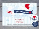 Airplane 1st Birthday Invitations Airplane Birthday Invitation 1st Birthday Party 6×4