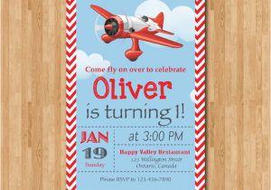 Airplane 1st Birthday Invitations Airplane Birthday Invitation Airplane theme Party Invite Boy
