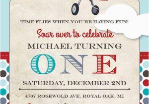 Airplane 1st Birthday Invitations Airplane Birthday Party Invitation Birthday Invitations