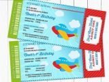 Airplane Boarding Pass Birthday Invitations Airplane Birthday Party Boarding Pass Ticket Invitation