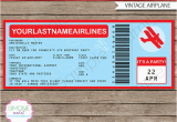 Airplane Boarding Pass Birthday Invitations Airplane Boarding Pass Invitations Template Birthday Party