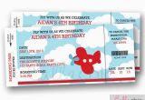 Airplane Boarding Pass Birthday Invitations Airplane Boarding Pass Ticket Invitation Printable Aeroplane