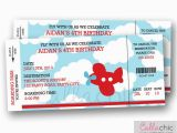 Airplane Boarding Pass Birthday Invitations Airplane Boarding Pass Ticket Invitation Printable Aeroplane
