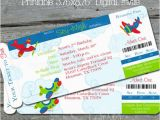 Airplane Boarding Pass Birthday Invitations Airplane Invitation Airplane Party Invite Boarding