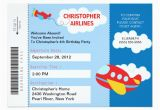Airplane Boarding Pass Birthday Invitations Boarding Pass Airplane Birthday Party Invitation Zazzle Com